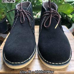 รองเท้าบูทหนังแท้ผู้ชาย สีดำ วัสดุหนังกลับแท้ มีเชือกผูก  รูปเล็กที่ 1