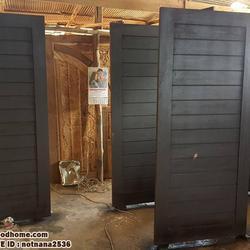 ร้านวรกานต์ค้าไม้ จำหน่าย ประตูไม้สักบานคู่ ประตูไม้สักบานเดี่ยว ประตูไม้สักกระจกนิรภัย ประตูโมเดิร์น รูปเล็กที่ 2