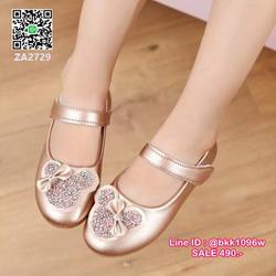 รองเท้าคัชชูเด็ก น่ารักฟรุ้งฟริ้ง ไซส์ 21-30 มีสายคาดหน้าเท้ากันหลุด รูปเล็กที่ 6