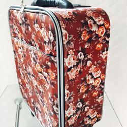 กระเป๋าเดินทางแบบผ้า ลายดอกไม้พื้นน้ำตาล ขนาด 16 นิ้ว รูปเล็กที่ 2