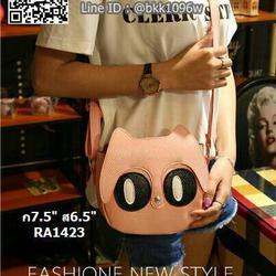 กระเป๋าสะพายแฟชั่น น่ารัก มีตาโต วัสดุหนัง PU คุณภาพดี รูปเล็กที่ 2