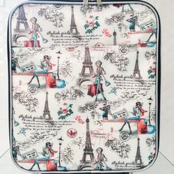 กระเป๋าเดินทางแบบผ้า ลายหอไอเฟล 16 นิ้ว รูปเล็กที่ 1