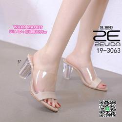 รองเท้าลำลอง ส้นสูง 3 นิ้ว ส้นแก้วใส สีโทนนู้ด ดาดหน้าอคิลิค รูปเล็กที่ 6