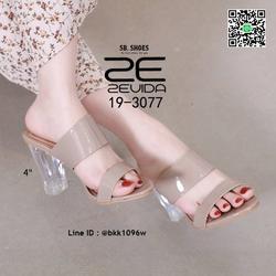 รองเท้าลำลอง ส้นแก้ว สูง 4 นิ้ว งานนำเข้าคุณภาพ สไตล์เกาหลี  รูปเล็กที่ 6