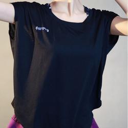 ชุดออกกำลังกายผู้หญิง เสื้อกีฬาผู้หญิง ใส่สบาย ระบายความร้อนได้ดี (สีดำ) รูปเล็กที่ 2