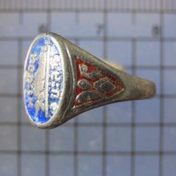 4728 แหวนพระนอน เนื้อเงินลงยา วัดคูหาภิมุข(วัดหน้าถ้ำ) จ.ยะล รูปเล็กที่ 3
