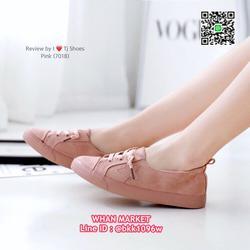 รองเท้าผ้าใบ แฟชั่นนำเข้า สุคคิ้วท์ วัสดุผ้าสักหลาด พื้นยาง รูปเล็กที่ 3
