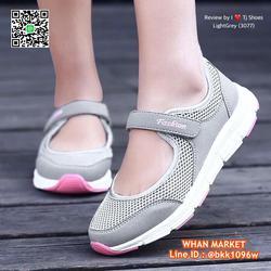 รองเท้าผ้าใบ แบบสวม วัสดุผ้าใบอย่างดี น้ำหนักเบ๊าเบา  รูปเล็กที่ 5