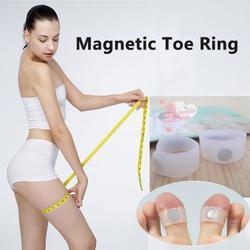 แหวนซิลิโคน  แม่เหล็กสวมนิ้วเท้าลดน้ำหนัก  (จำนวน 1 คู่) รูปเล็กที่ 1