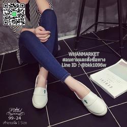 รองเท้าผ้าใบหนังนิ่ม สไตล์ลาคsอส ผ้าใบไร้เชือกสวมง่าย งานพียูนุ่มๆ น้ำหนักเบา รูปเล็กที่ 5
