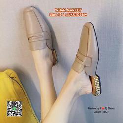 รองเท้าคัชชูเปิดส้น หนังPUนิ่มมาก ส้นทองเกร๋ๆ ทรงสวย สวมใส่ง รูปเล็กที่ 2