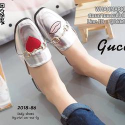 รองเท้าแตะหัวตัด งานเปิดส้น งานstyle Gucci ปักลายรูปปากและหัวใจ สุดน่าร๊าก รูปเล็กที่ 1