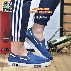 รองเท้าผ้าใบผู้ชาย แบบสวม วัสดุผ้าแคนวาสเนื้อหนาคุณภาพดี รูปเล็กที่ 1