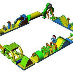 เครื่องเล่นสวนน้ำ obstacle game 20X15M เครื่องเล่นสวนน้ำ อุปสรรค 20X15M รูปเล็กที่ 2