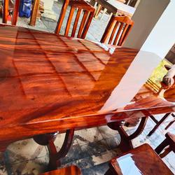 โต๊ะอาหาร ก80xย180+เก้าอี้ 8  ตัว  รูปเล็กที่ 4
