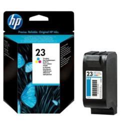 ตลับหมึกสี HP 23 Tri-color Ink Cartridge (C1823D) แท้ รูปเล็กที่ 1