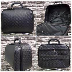กระเป๋าเดินทางแบบ PVC 13 นิ้ว ลายชาแนลสีดำ รูปเล็กที่ 1