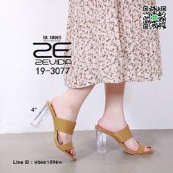 รองเท้าลำลอง ส้นแก้ว สูง 4 นิ้ว งานนำเข้าคุณภาพ สไตล์เกาหลี  รูปเล็กที่ 2