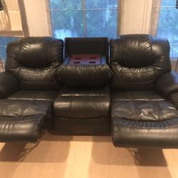 เก้าอี้โฮมเทียเตอร์หนังแท้ รูปเล็กที่ 1
