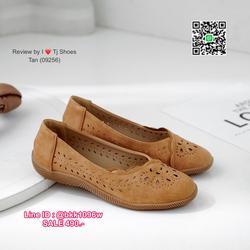 รองเท้าคัชชู น้ำหนักเบา หนังPUนิ่ม ฉลุลาย มีรูระบายอากาศ ใส่แล้วไม่อับเท้า พื้นบุนวมนิ่ม ใส่นุ่มสบายมากๆ ส้นยาง รูปเล็กที่ 5