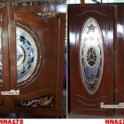 ประตูไม้สัก ประตูไม้สัก กระจกนิรภัย ร้านวรกานต์ค้าไม้ door-woodhome.com รูปเล็กที่ 3