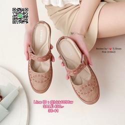 รองเท้าเปิดส้น งานน่ารักสุดๆ หนังPUนิ้มนิ่ม น้ำหนักเบา ใส่นุ่มเดินสบายมากๆ รูปเล็กที่ 2