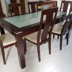 ชุดโต๊ะ พร้อมเก้าอี้ 6 ที่นั่ง  ขนาดโต๊ะ 165x90 cm. รูปเล็กที่ 3