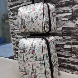 กระเป๋าเดินทางแบบผ้า เซ็ทคู่ 18/13 นิ้ว ลายหอไอเฟว รูปเล็กที่ 3