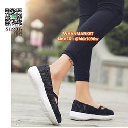 รองเท้าผ้าใบลำลอง ทำจากผ้าใบยืดหยุ่นได้ดี มีสายยางยืดรัดหน้า รูปเล็กที่ 3