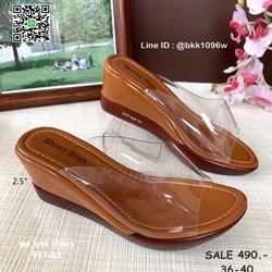 รองเท้าส้นเตารีด พลาสติกใสนิ่ม น้ำหนักเบา สูง 2.5 นิ้ว  รูปเล็กที่ 3