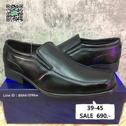 รองเท้าคัชชูสีดำ แฟชั่นผู้ชาย วัสดุหนังPU อย่างดี แบบสวม รูปเล็กที่ 2