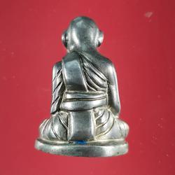 5850 รูปหล่อหลวงปู่สุข ธรรมฺโชโต วัดโพธิ์ทรายทอง พิมพ์มือจับเข่า รูปเล็กที่ 3
