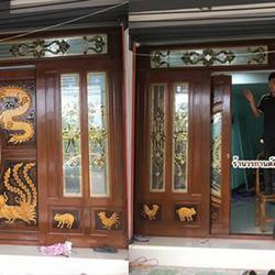 door-woodhome.com ประตูไม้สักกระจกนิรภัย,ประตูไม้สักโมเดิร์น, ประตูไม้สักบานเลื่อน, ประตูหน้าต่างไม้สัก รูปเล็กที่ 1