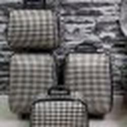 กระเป๋าเดินทางแบบผ้า เซ็ทคู่ 18/13 นิ้ว ลาย Khaki/Brown รูปเล็กที่ 4