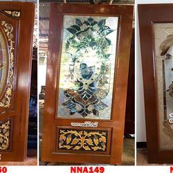 ประตูไม้สัก ประตูไม้สัก กระจกนิรภัย ร้านวรกานต์ค้าไม้ door-woodhome.com รูปเล็กที่ 4