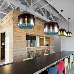 โคมไฟแอปเปิ้ล โคมไฟแก้วใสรูปแอปเปิ้ล โคมไฟแก้วสีเขียว และโคมไฟแก้วสีฟ้า เป็นโคมไฟสไตล์โมเดร์น  รูปเล็กที่ 1