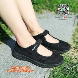 รองเท้าผ้าใบ แบบสวม วัสดุผ้าใบอย่างดี น้ำหนักเบ๊าเบา  รูปเล็กที่ 2