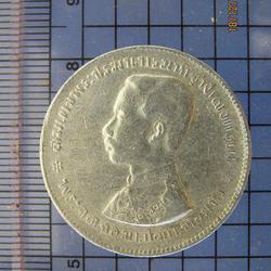 4118 เหรียญเนื้อเงิน ร.5 หนึ่งบาท ไม่มี รศ. หลังตราแผ่นดิน ป รูปเล็กที่ 2