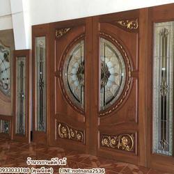 ร้านวรกานต์ค้าไม้ จำหน่าย ประตูไม้สัก กระจกนิรภัย,ประตูบานเลื่อนไม้สัก รูปเล็กที่ 6