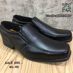 รองเท้าคัชชูหนัง สีดำ ผู้ชาย แบบสวม ทรงสุภาพ วัสดุหนังPU  รูปเล็กที่ 6