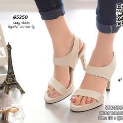 รองเท้าส้นสูงรัดส้น สายรัดแบบยางยืด ทรงสวยมากๆๆๆ เสริมหน้า 0.5 นิ้ว ความสูง 4 นิ้ว รูปเล็กที่ 1