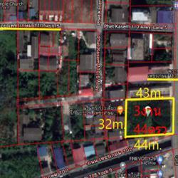 ขาย ที่ดิน เหมาะสำหรับอาศัย ทำการค้า ที่ดิน เพชรเกษม110 3 งาน 44 ตร.วา พร้อมโอน. รูปเล็กที่ 1