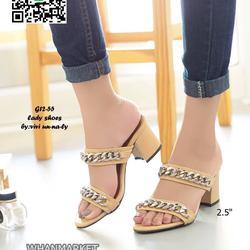 รองเท้าส้นสูง สไตล์ลำลอง ลุคพรีเมี่ยม สูง 2.5 นิ้ว รูปเล็กที่ 3