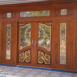 ประตูไม้สักกระจกนิรภัย รูปเล็กที่ 3