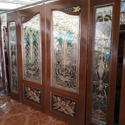 ร้านวรกานต์ค้าไม้ จำหน่าย ประตูไม้สัก กระจกนิรภัย,ประตูบานเลื่อนไม้สัก รูปเล็กที่ 5