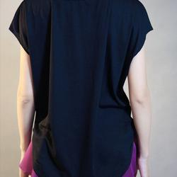 ชุดออกกำลังกายผู้หญิง เสื้อกีฬาผู้หญิง ใส่สบาย ระบายความร้อนได้ดี (สีดำ) รูปเล็กที่ 3
