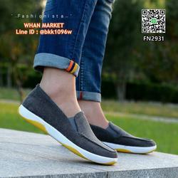 รองเท้าผ้าใบผู้ชาย ทรงสลิปออน วัสดุผ้าแคนวาสเนื้อลูกฟูกหนา รูปเล็กที่ 6