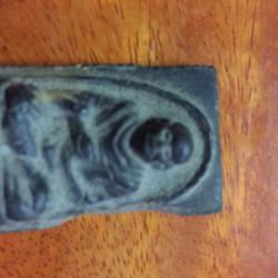 พระสมเด็จพุฒาจารย์โต  รุ่น 113 พ.ศ.2411 ด้านหลัง ร.5 จปร.เนื้อผงสีดำเก่าเก็บ รูปเล็กที่ 1