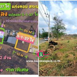 ที่ดินเปล่า 5-1-37 ไร่ แก่งคอย สระบุรี หน้ากว้างประมาณ 86 M x 100 M เป็นพื้นที่สีเขียว ทำโรงงานที่เกี่ยวข้องกับการเกษตร รูปเล็กที่ 1