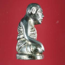 5850 รูปหล่อหลวงปู่สุข ธรรมฺโชโต วัดโพธิ์ทรายทอง พิมพ์มือจับเข่า รูปเล็กที่ 2